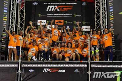 Red Bull KTM comemora o tricampeoanto de Jeffrey Herlings.