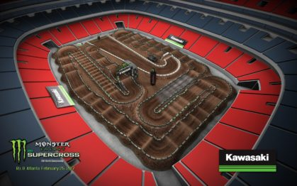 Volta virtual AMA Supercross 2017 em Atlanta