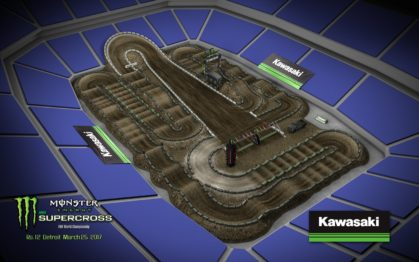 Volta virtual AMA Supercross 2017 em Detroit