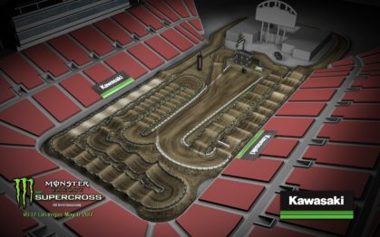 Volta virtual AMA Supercross 2017 em Las Vegas