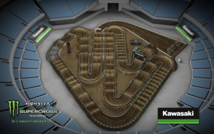 Volta virtual AMA Supercross 2017 em Oakland