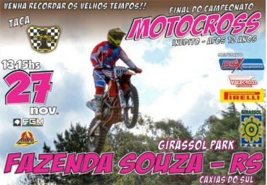 Domingo tem final do BSX de Motocross