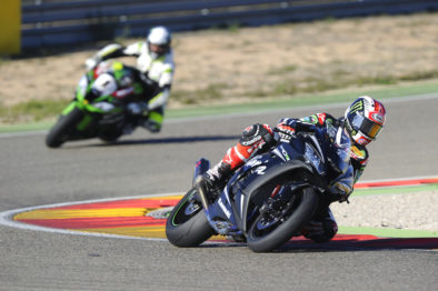 Rea (moto preta) e Desalle #1 (moto verde)