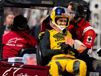 Ken Roczen cai em Anaheim 2 e está fora do AMA Supercross 2017