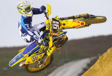 De carona com Jeremy Seewer no Campeonato Francês de Motocross