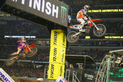 De carona com os pilotos do AMA Supercross 2017 em Minneapolis