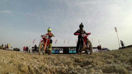 De carona com Antonio Cairoli e Tim Gajser na 1a etapa do Mundial de Motocross 2017