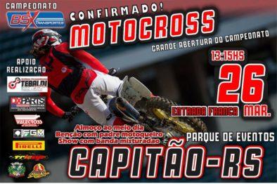 Pista de Capitão abrirá a temporada do  Motocross Regional