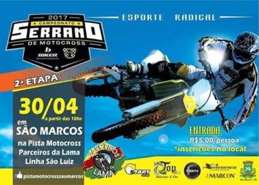 Serrano de Motocross chega no domingo a São Marcos