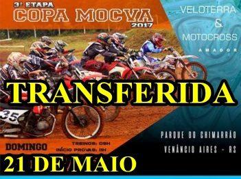 3ª etapa do Copa MOCVA em Venâncio Aires é transferida