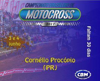 Faltam 30 dias para abertura do Brasileiro de Motocross