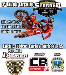 Serrano Amador de Motocross é recebido em Carlos Barbosa no domingo