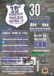 Nova Prata pronta para receber a galera na 13ª Trilha do Capoeiras Moto Grupo