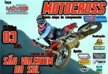 São Valentim do Sul recebe a 5ª etapa do regional de motocross nesse domingo