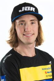 Kyle Peters na JGR Suzuki em 2018