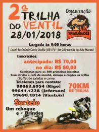 Domingo tem Trilha do Ventil em São José do Maratá