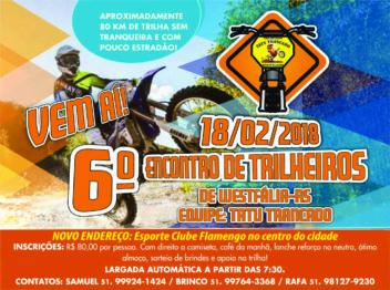 Westfália conta os dias para o 6º Encontro de Trilheiros do Tatu Trancado Moto Grupo