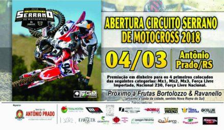 Antônio Prado recebe a abertura do Serrano de Motocross e 4 de março