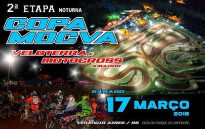 Sábado acontece a segunda etapa noturna da Copa MOCVA – Veloterra e Motocross