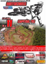 André Produções abre domingo em Capitão o Regional de Motocross