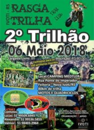 Rasga Trilha tem 2º Trilhão no domingo 6 maio em Ivoti