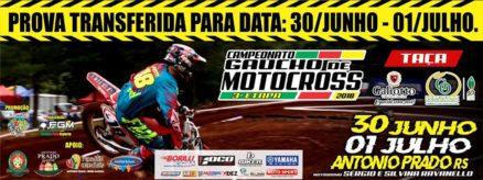 Gaúcho de Motocross mudou para dias 30/06 e 1º/07
