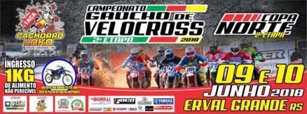 Erval Grande é o palco da segunda etapa do Gaúcho de Velocross e Copa Norte