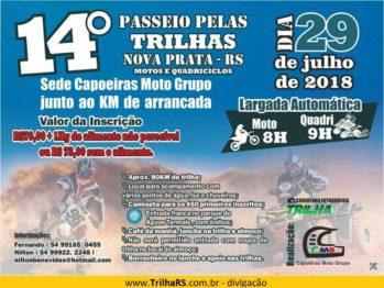 Capoeiras Moto Grupo de Nova Prata realiza 14º passeio em 29 de julho