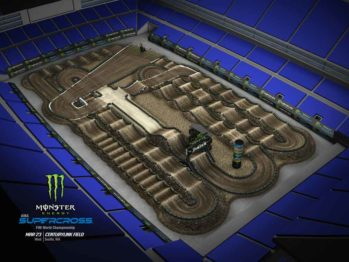 Volta virtual AMA Supercross 2019 em Seattle