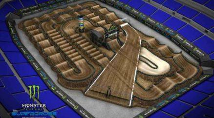 Volta virtual AMA Supercross 2019 em Indianapolis