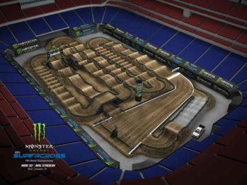 Volta virtual AMA Supercross 2019 em Houston