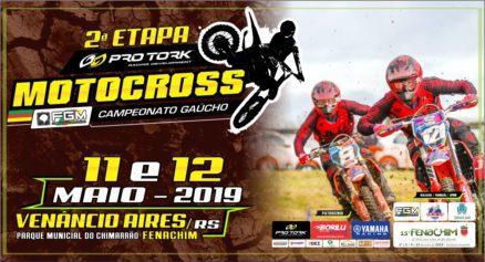 Gaúcho de Motocross tem 2ª etapa na FENACHIM em Venâncio Aires