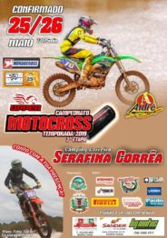 Terceira etapa do Upper Energi Drink de Motocross acontece domingo em Serafina Correa