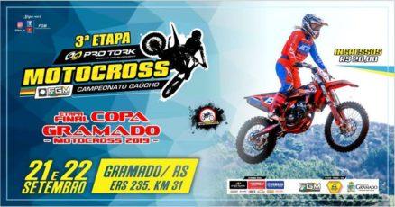 Gramado sediará domingo a 3ª etapa do Gaúcho de Motocross