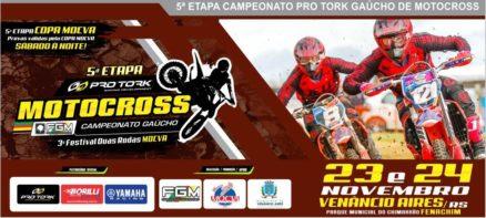 Copa Mocva e Gaúcho de Motocross são as atrações em Venâncio Aires no Final de semana