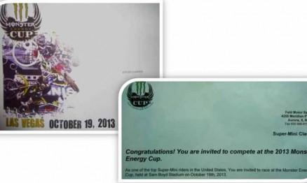 Piloto brasileiro correrá no Monster Energy Cup 2013