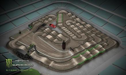 Vídeo – Volta virtual AMA Supercross 2015 em Anaheim 2
