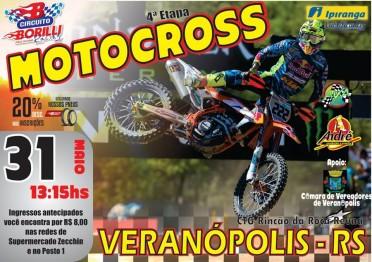 Dia 31 de maio tem motocross regional em Veranópolis