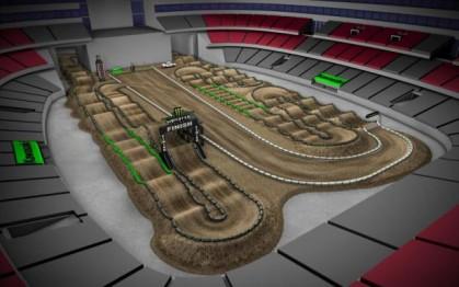 Volta virtual AMA Supercross 2016 em Glendale