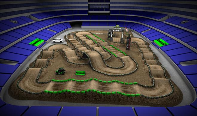 Volta virtual AMA Supercross 2016 em Arlington