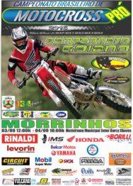 Morrinhos sedia final do BR de Motocross nas classes: 50cc, 65cc, MXF e MX4