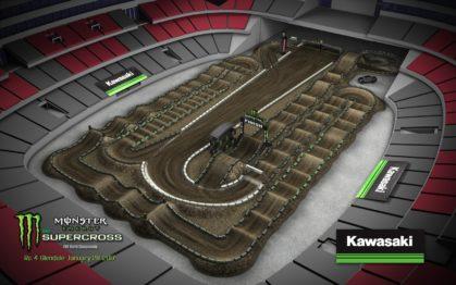 Volta virtual AMA Supercross 2017 em Phoenix