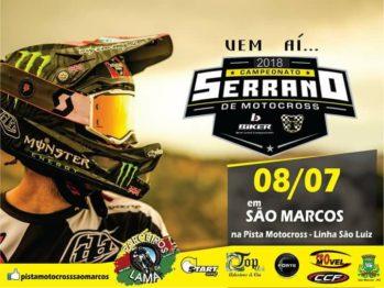 Domingo dia 8 tem Serrano de Motocross em São Marcos