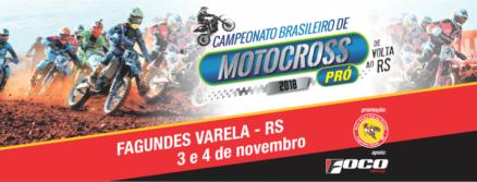 O Brasileiro de Motocross retorna ao RS. A grande final é dia 4 de novembro em Fagundes Varela