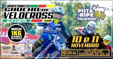 Gaúcho de Velocross chega a Grande POA. Dias 10 e 11 de novembro é em Eldorado do Sul