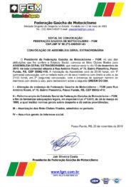 FGM CONVOCA ASSEMBLEIA GERAL EXTRAORDINÁRIA