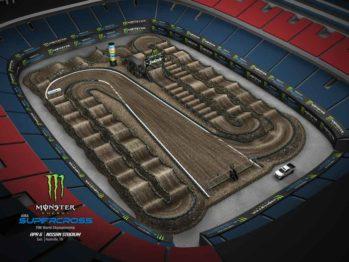 Volta virtual AMA Supercross 2019 em Nashville